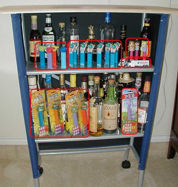 Homemade liquor cabinet